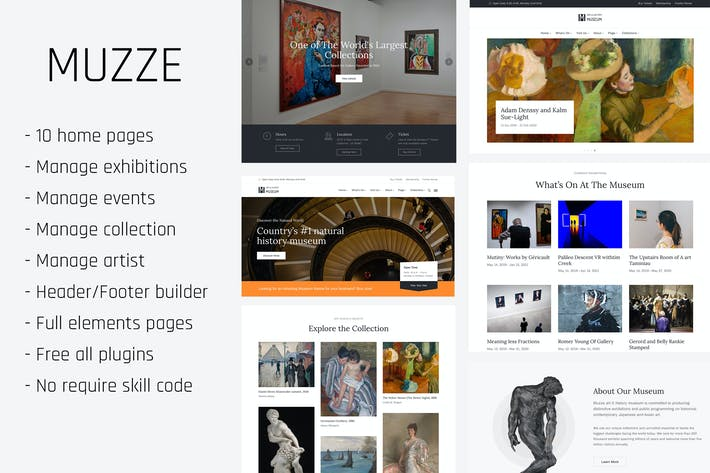 Thumbnail for Muzze - Museum Art Gallery Exhibition WP Themes