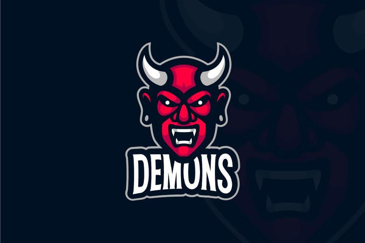 Thumbnail for Demon Mascot Logo