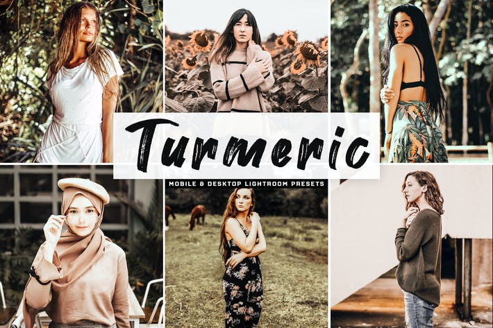 Thumbnail for Turmeric Mobile & Desktop Lightroom Presets