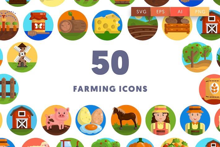 50 LandwirtschaftsIcons