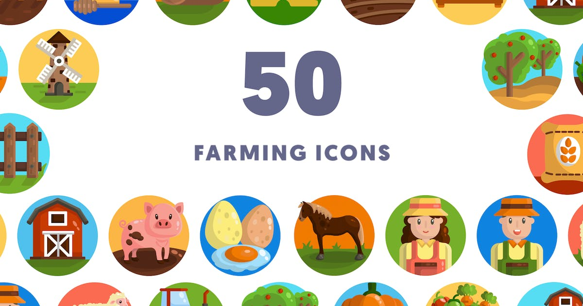 Download 50 Farming Icons by thedighital