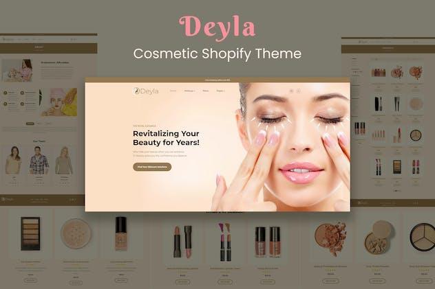 Deyla - Skincare Cosmetics Shopify Theme