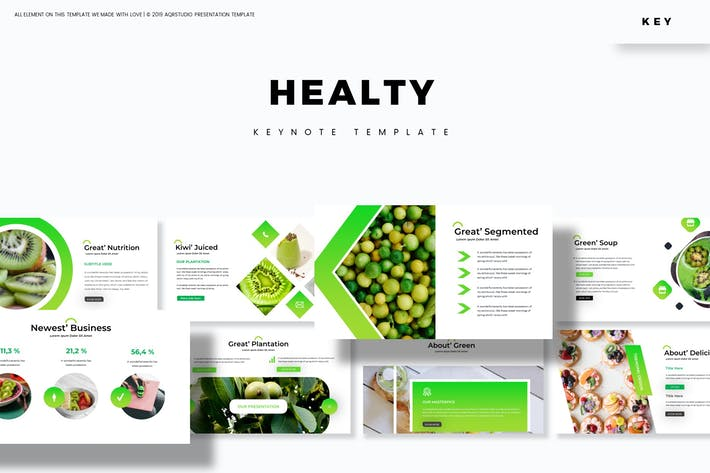 Thumbnail for Healty Fruits - Keynote Template