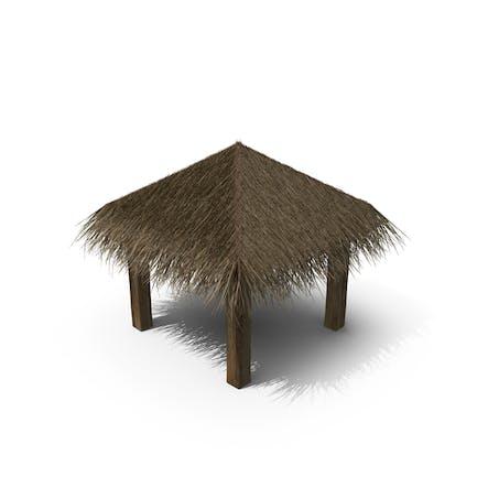 Sombrilla de playa de paja