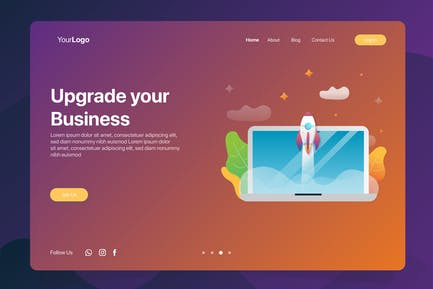 Upgrade Business - Banner & Landing Page