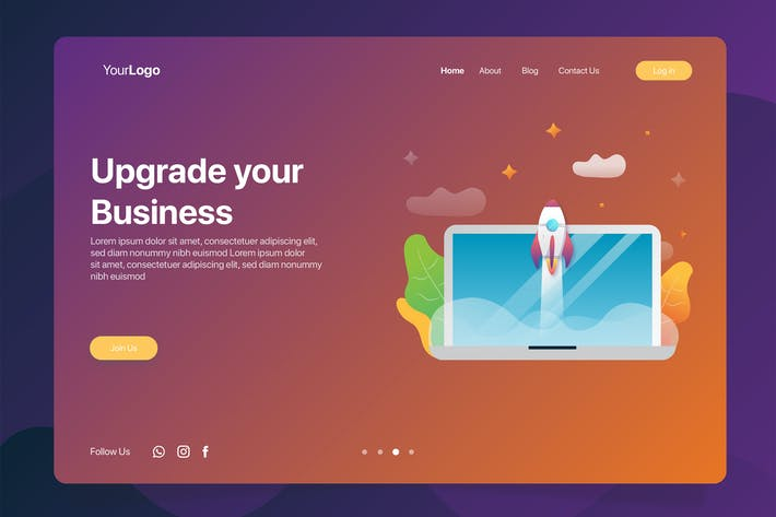 Thumbnail for Upgrade Business - Banner & Landing Page