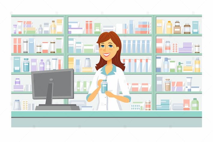 Thumbnail for Pharmacy - vector illustration