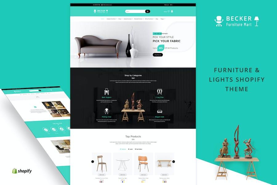 Becker   Furniture & Lights Shopify Theme