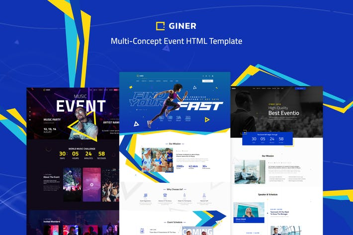 Thumbnail for Giner | Multi-Concept Event HTML Template