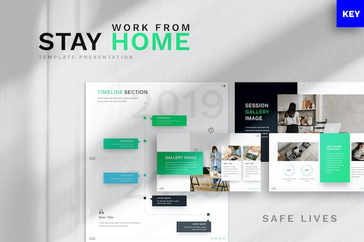 Thumbnail for Stay at Home - Keynote Template