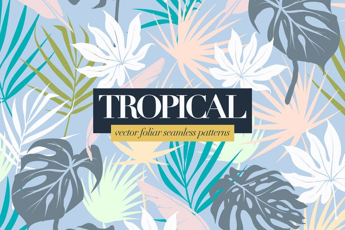 Thumbnail for Colorful Tropical Foliar Seamless Patterns