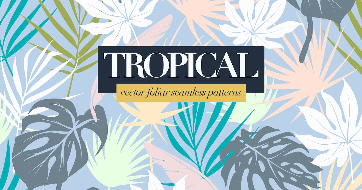 Download Colorful Tropical Foliar Seamless Patterns by themefire