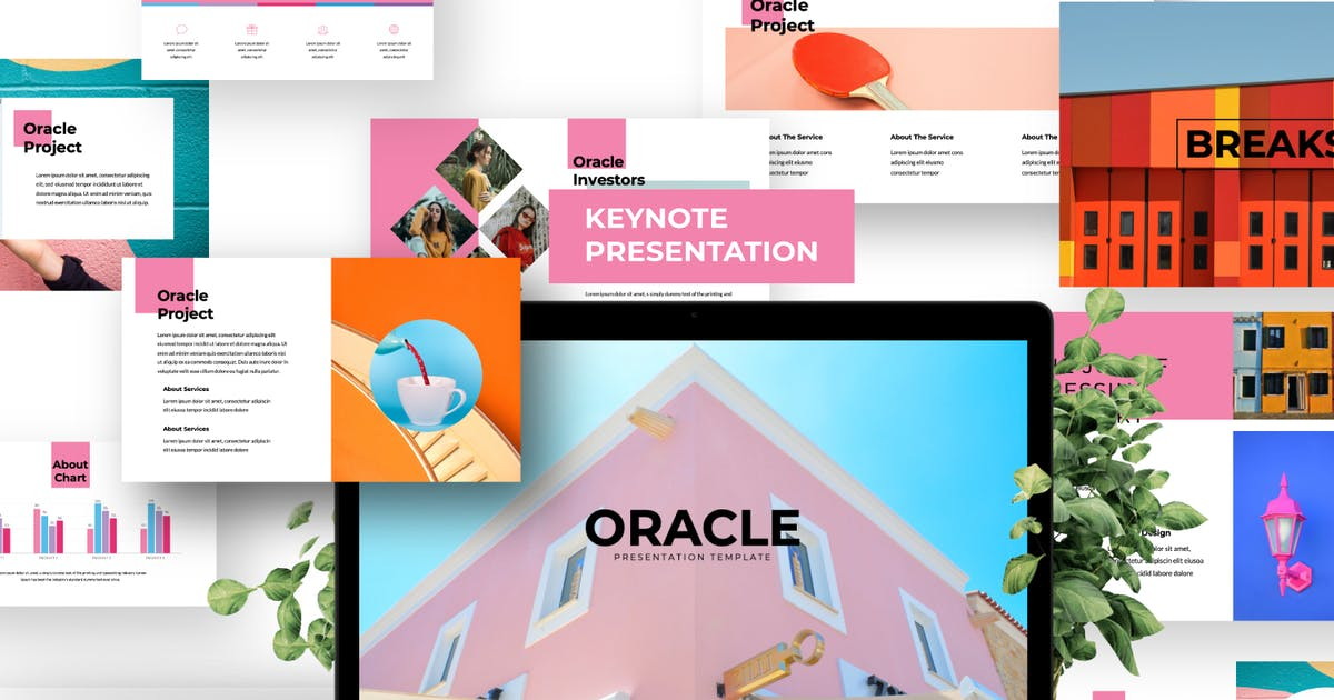 Download Oracle Creative Keynote Presentation Business by templatehere