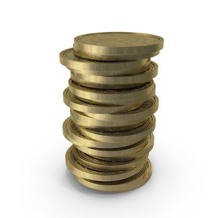Monedas de oro limpias