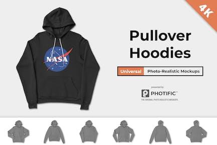 Pullover Hoodie Sweatshirt Mock-ups