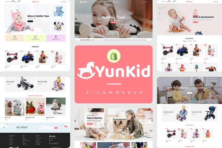 Thumbnail for Yunkid - Kids Toys Store Responsive Shopify Theme