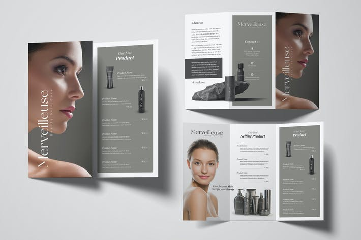 Thumbnail for Beauty Trifold Brochure