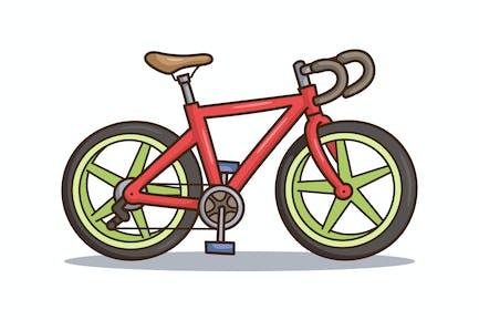 Road Bike Cartoon