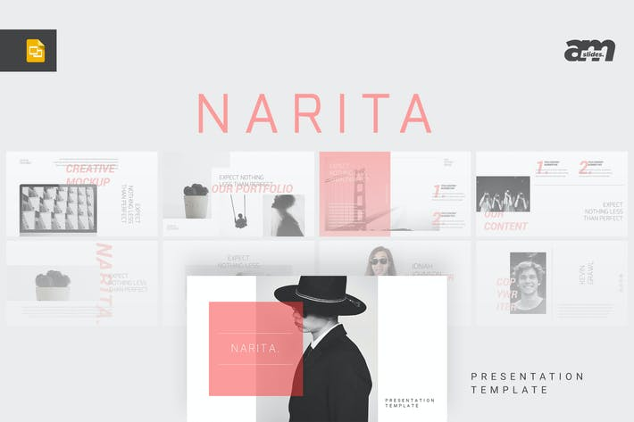 Cover Image For Narita - Magazine Google Slides Template