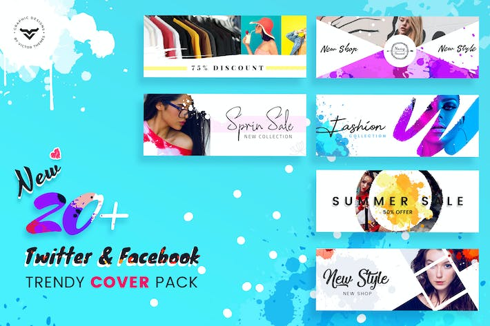 Thumbnail for Facebook & Twitter Cover Social Media Templates
