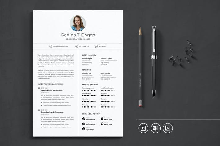 Thumbnail for Professional CV Resume Indesign Template Vol.43