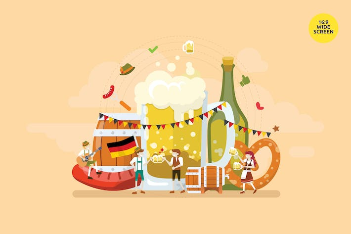 Thumbnail for Oktoberfest Celebration Party Vector Concept 2