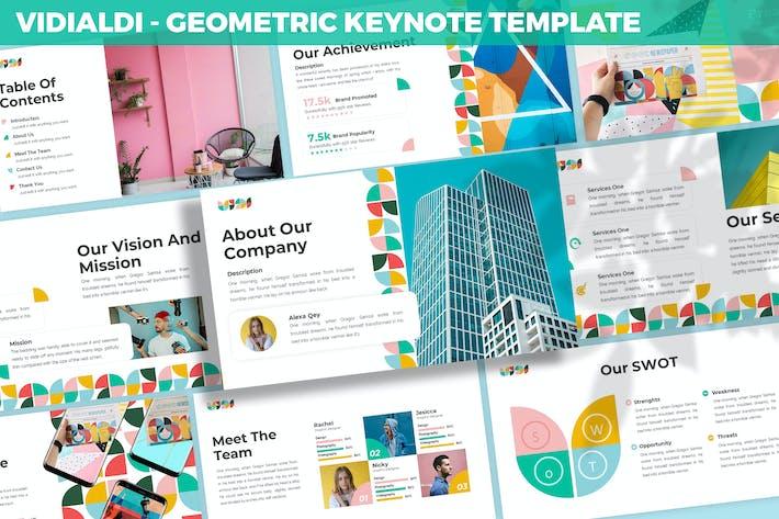 Vidialdi - Geometric Keynote Template