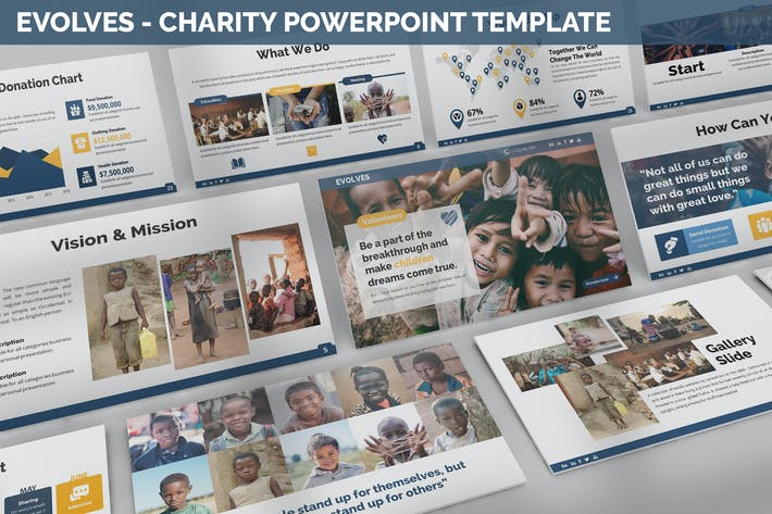 Thumbnail for Evolves - Charity Powerpoint Template