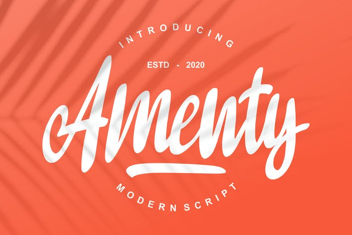 Thumbnail for Amenty Modern Script