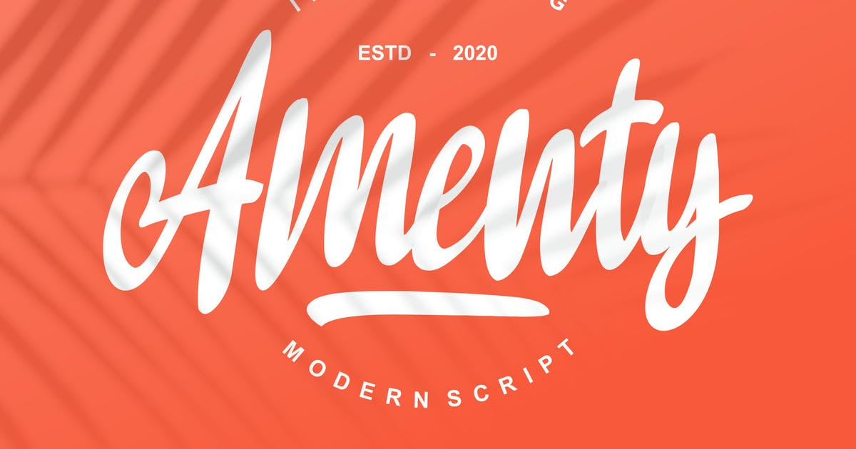 Download Amenty Modern Script by Fannanstudio