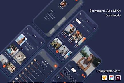 Ecommerce App UI Kit Dark Mode