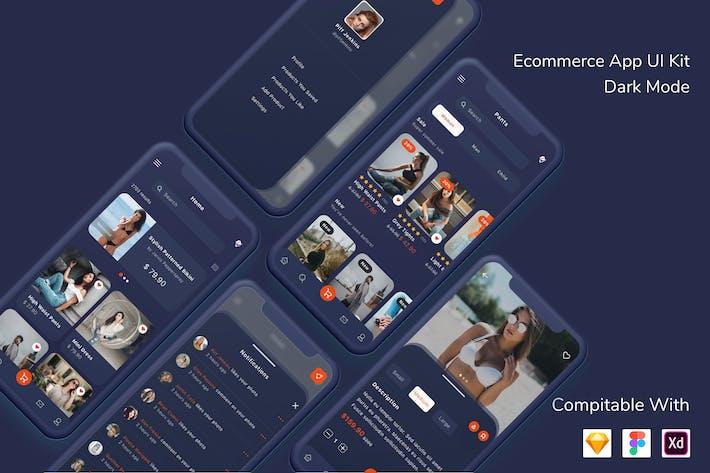 Thumbnail for Ecommerce App UI Kit Dark Mode