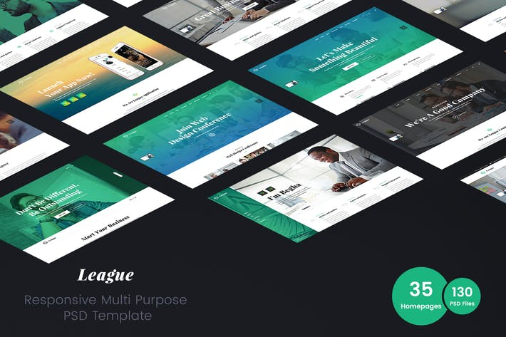 Thumbnail for League - Business Multi-Purpose PSD Template