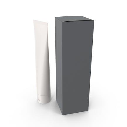 Recipiente cosmético y caja gris