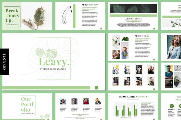 Thumbnail for Leavy - Keynote Templates