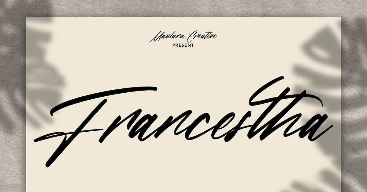 Download Francestha Super Slanted Signature Font by maulanacreative