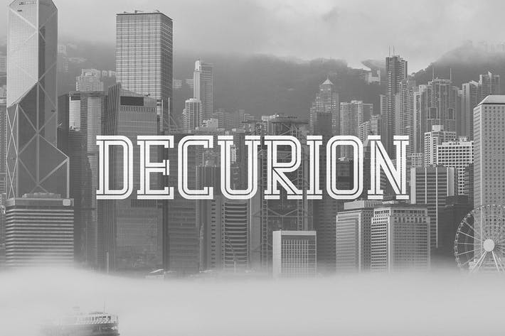 Thumbnail for Decurion Typeface