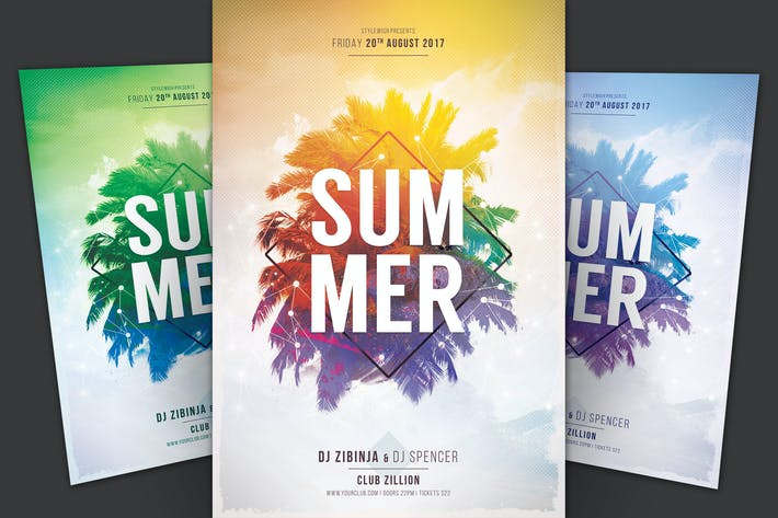 Thumbnail for Summer Flyer Template