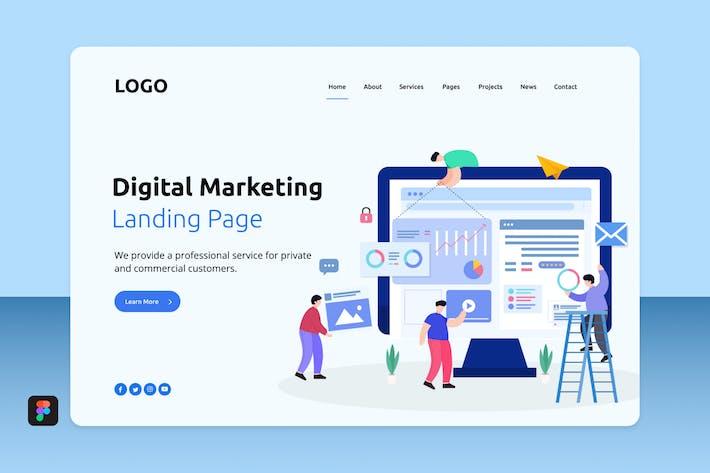 Thumbnail for Dimar - Digital Marketing Landing 8