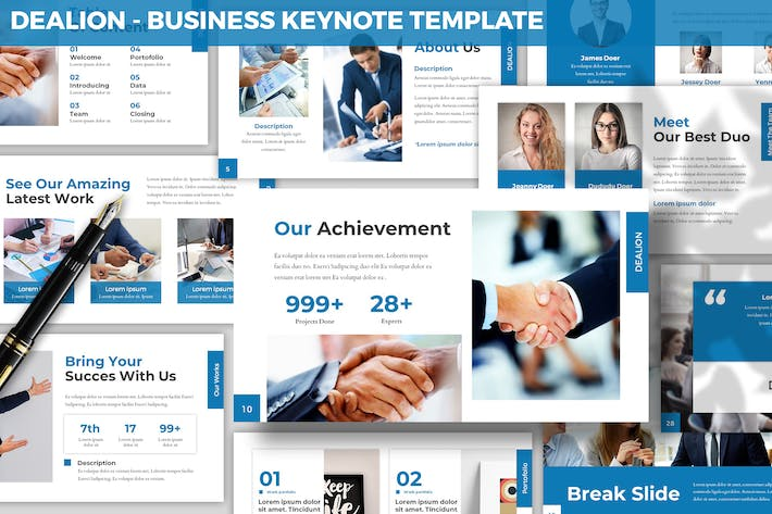 Thumbnail for Dealion - Business Keynote Template