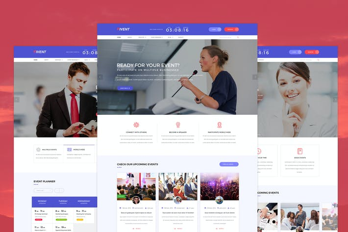 Thumbnail for Fivent - Conference & Event PSD Template