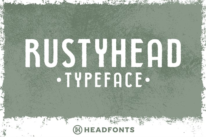 Thumbnail for Rustyhead Typeface Font