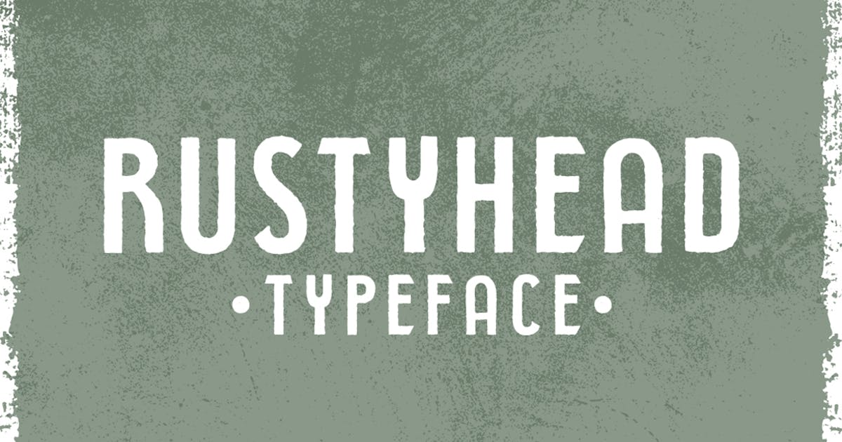 Download Rustyhead Typeface Font by Mihis_Design