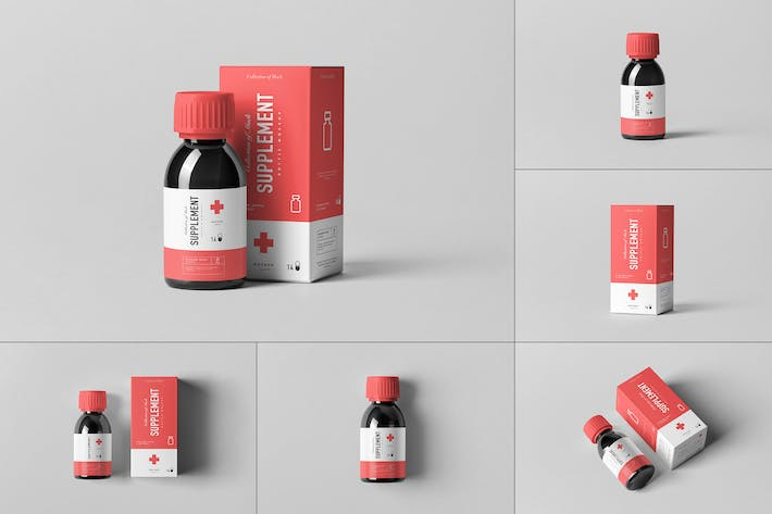 Thumbnail for Supplement Bottle & Box Mock-up 2