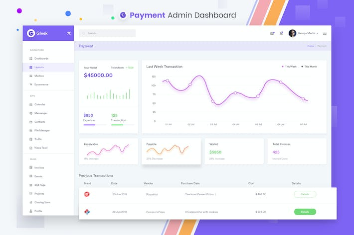 Thumbnail for Payment Admin Dashboard UI Kit