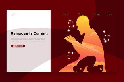 Ramadan Prayers - Banner & Landing Page