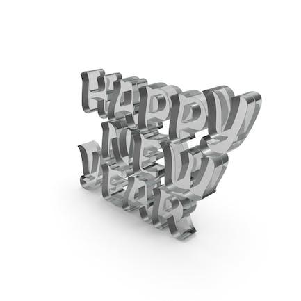 Happy New Year Glass
