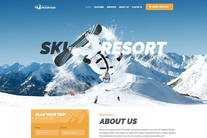 Thumbnail for Snow Mountain | Ski Resort & Snowboard School WP