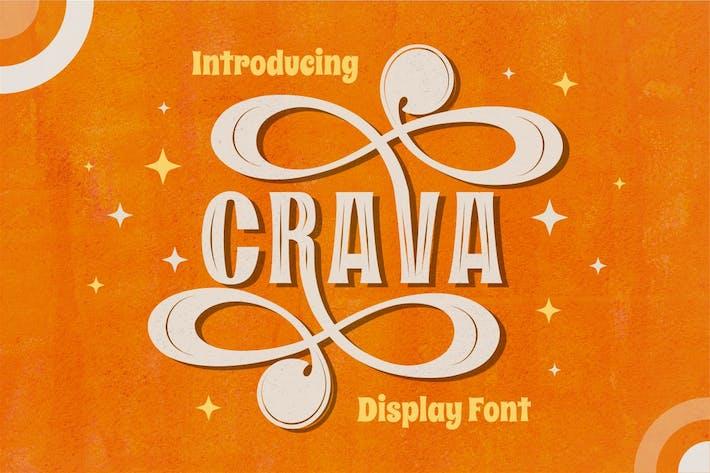 Thumbnail for Crava - Police d'affichage vintage