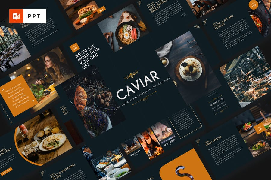 CAVIAR - Catering & Food Powerpoint Template